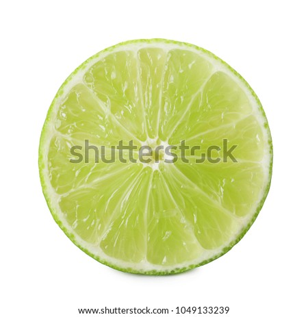 Slice of fresh citrus fruit on white background #1049133239
