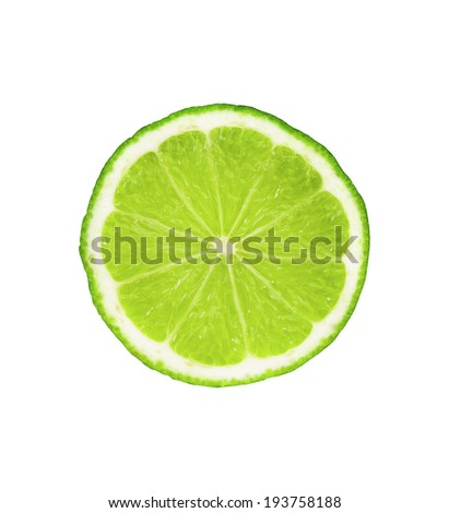 slice of fresh lime on white background #193758188