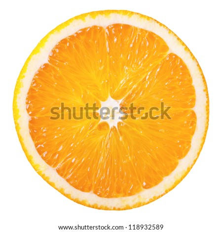 Shutterstock Slice of fresh orange isolated on white background