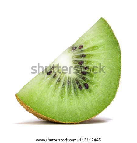 slice of kiwi - stock photo