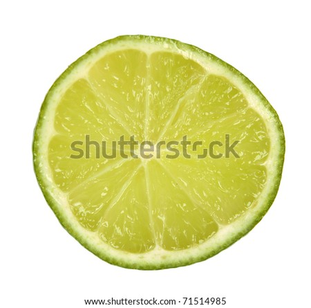 SLice of lime isolated on white background #71514985