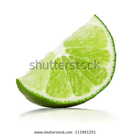 slice of lime over white background #111881201