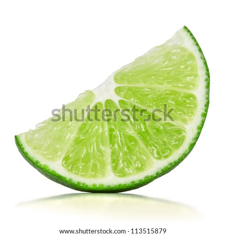 slice of lime over white background #113515879