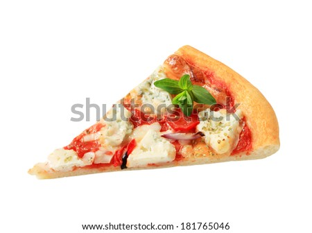 Slice of pizza quattro formaggi #181765046
