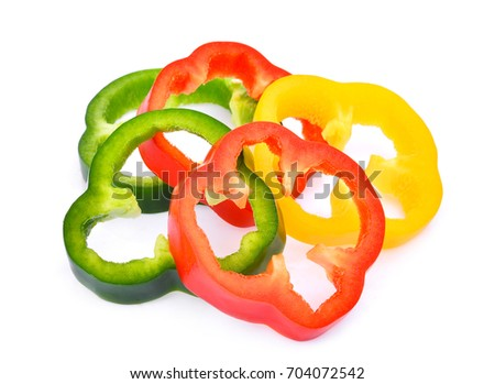 slice of sweet bell pepper or...