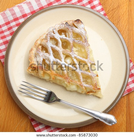 Slice of traditional apple pie