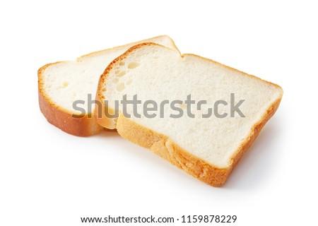 Slice of white bread isolated on white ストックフォト ©