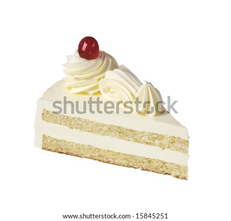 Slice of white cream cake