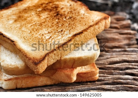 Slice toast bread background texture ストックフォト ©