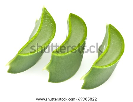 Sliced Aloe Vera leaf - stock photo
