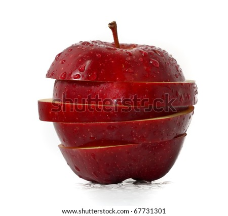 Sliced Apples - stock photo