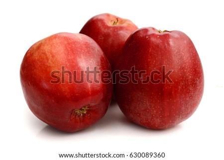 sliced apples isolated