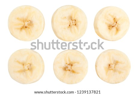 sliced banana path isolated