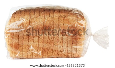 Sliced bread in plastic bag  #626821373