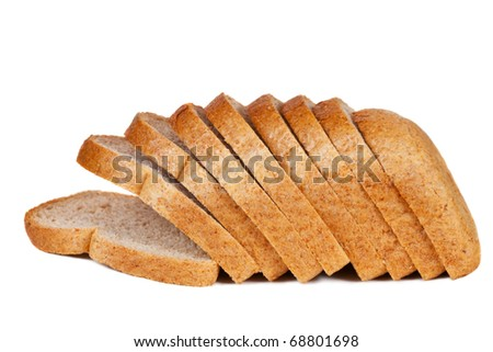 Sliced bread. Isolated on a white background