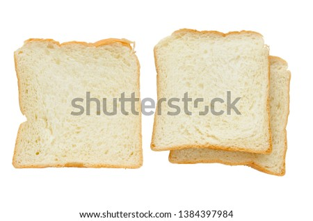 Pile Of The Cut Bread Isolated On A White Background Images