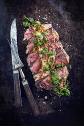 Sliced Dry Aged Entrecote Double Steak