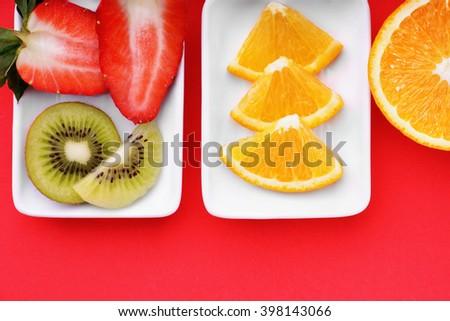 Sliced fruits #398143066