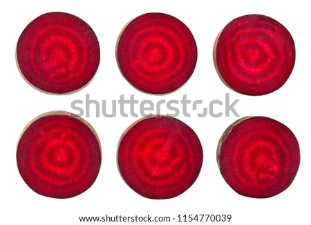 sliced long beetroot path isolated