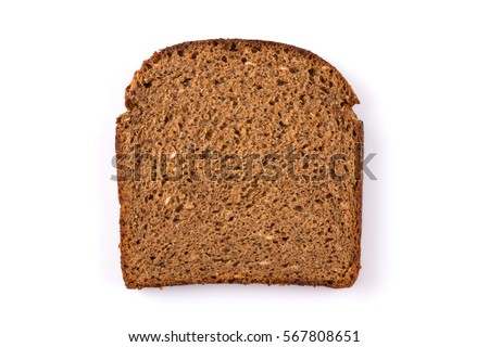 sliced of rye bread, isolated on a white background #567808651