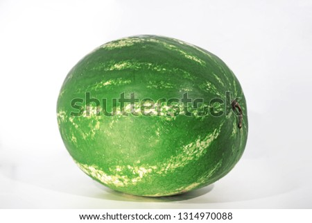 Sliced of watermelon isolated on white background. Zdjęcia stock ©