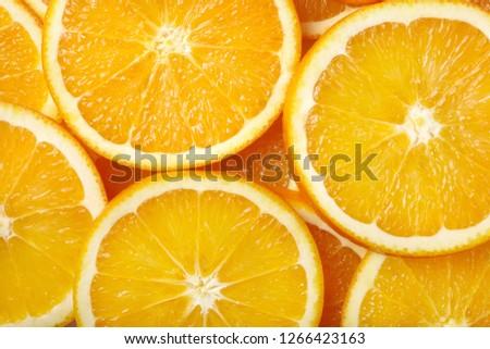 Sliced orange. Background texture.