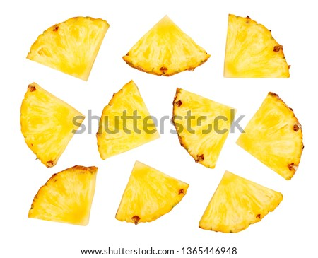 sliced pineapple path isolated