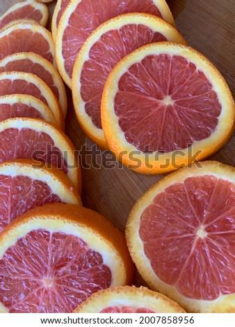 Sliced Pink Cara Cara Oranges  Foto stock ©