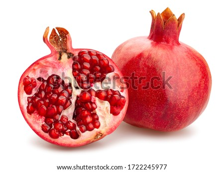 sliced pomegranate path isolated on white Сток-фото ©