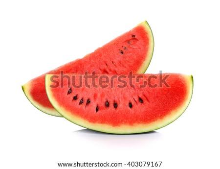 Sliced ripe watermelon isolated on white background Zdjęcia stock ©