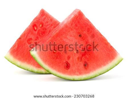 Sliced ripe watermelon isolated on white background cutout Zdjęcia stock ©