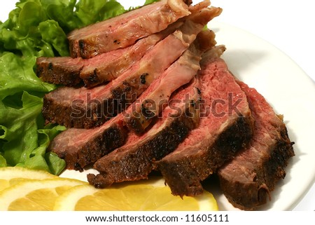 sliced roast meat