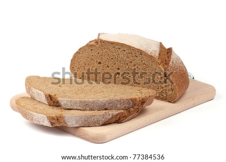 sliced rye bread on the board