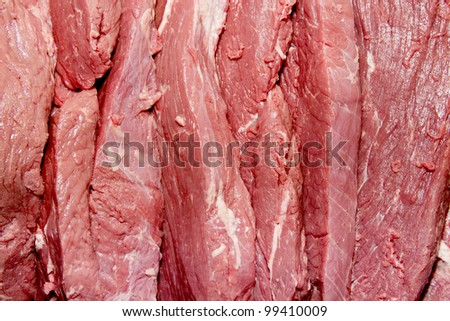 sliced steaks as background image