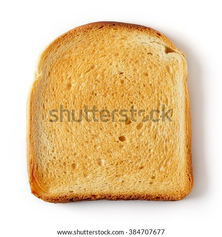 Shutterstock Sliced Toast Bread isolated on white background, top view
