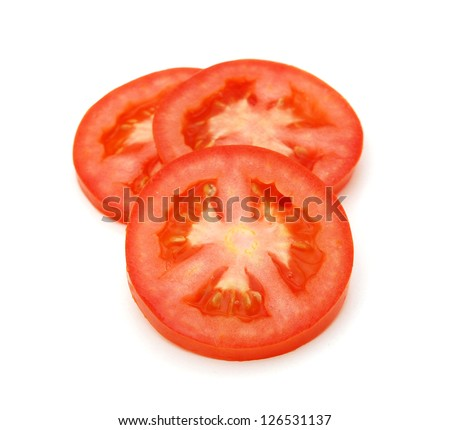 Sliced Tomato as a Healthy and Nutritious Dietary Supplement