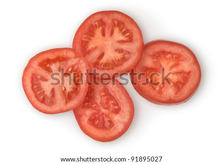 Sliced Tomato as a Healthy and Nutritious Dietary Supplement - stock photo