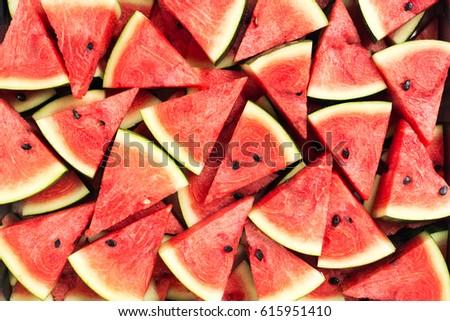 sliced watermelon  - Shutterstock ID 615951410