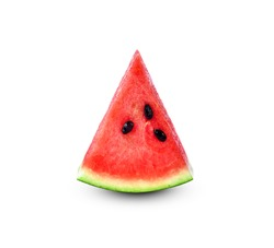 Sliced watermelon isolate on a white background