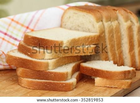 Sliced white bread #352819853