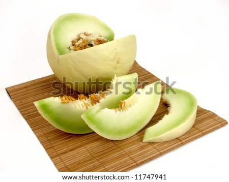 sliced white melon