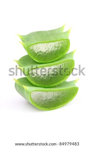 Slices of aloe