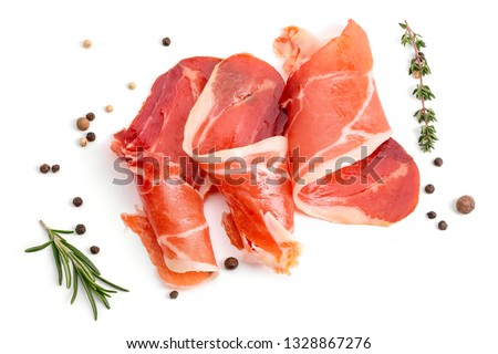 Photo of  Slices of appetizing jamon