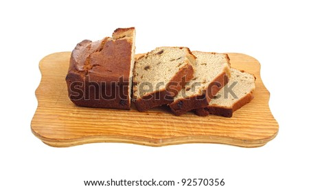 Slices of delicious fine textured date bread.