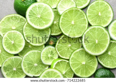Slices of lime, closeup #714222685
