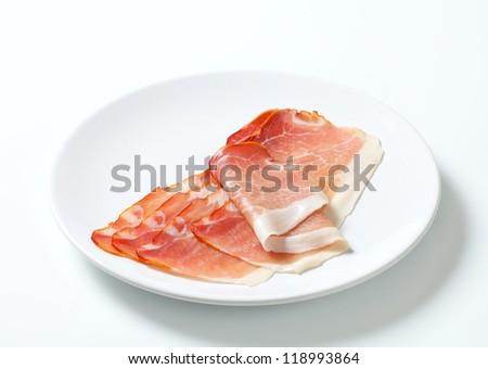 Slices of parma ham
