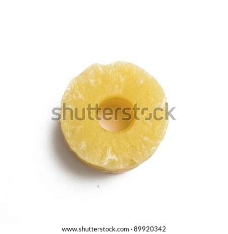 slices of pineapple on white