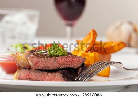 slices of steak