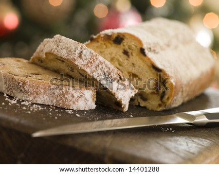 Slices of Stollen Cake