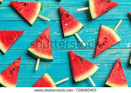 slices of watermelon - Shutterstock ID 728080405